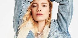 woman wearing jean jacket
