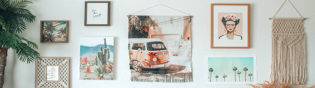 art from society6 on a wall