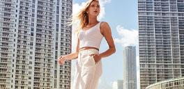 sorel model walking in a city