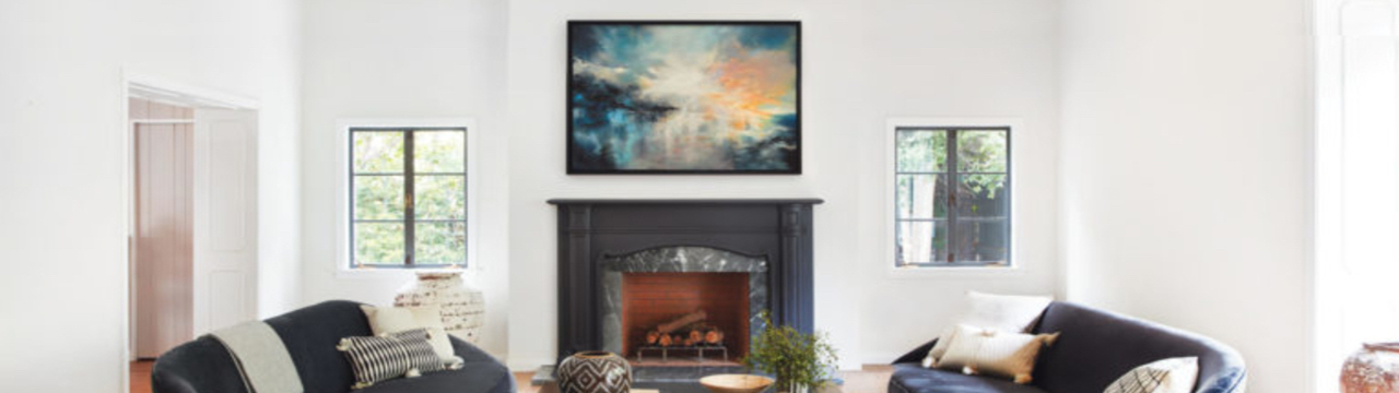 art from saatchi art in a living room