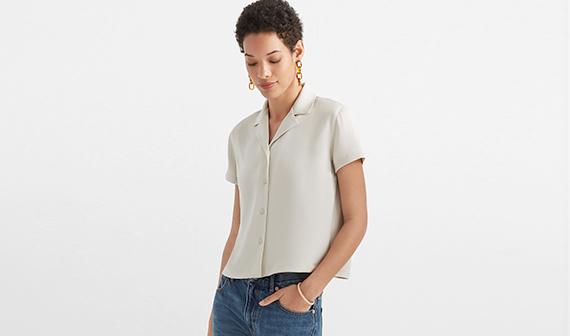 women in shirt