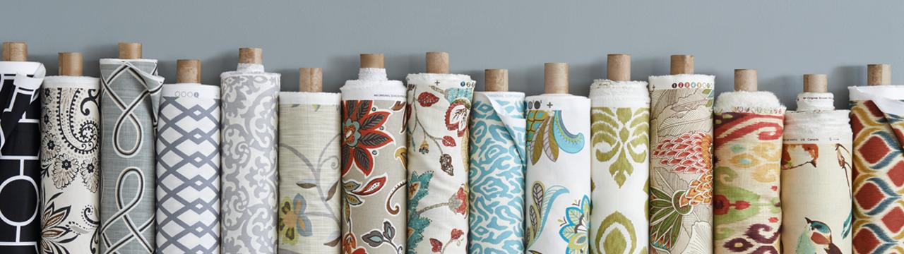 variety of fabric rolls