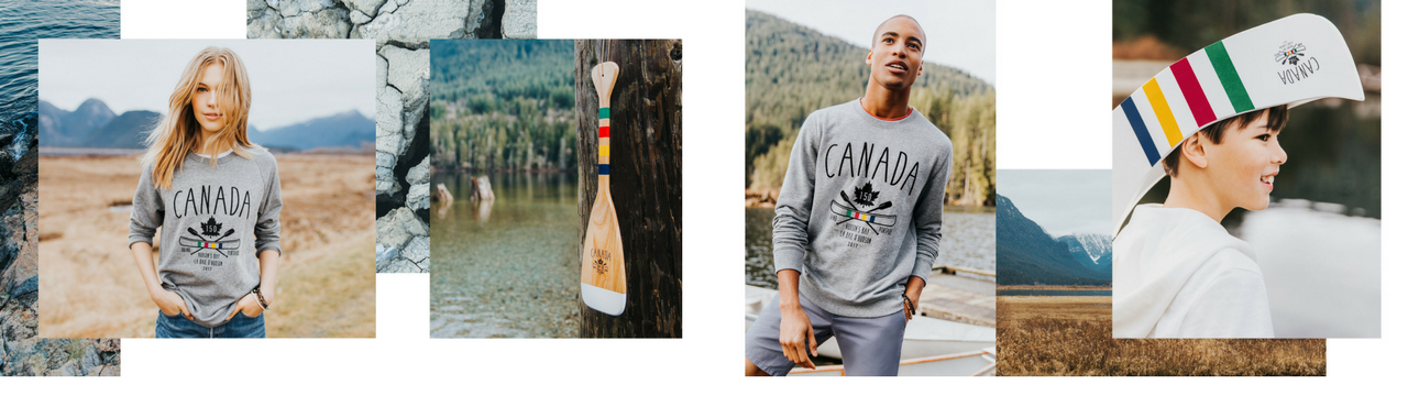Hudson's Bay image paddle apparel stripes fashion