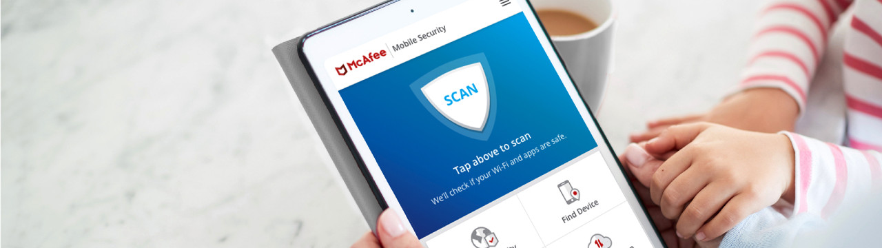 mcafee security app on a phone