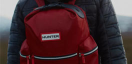 hunter boots backpack