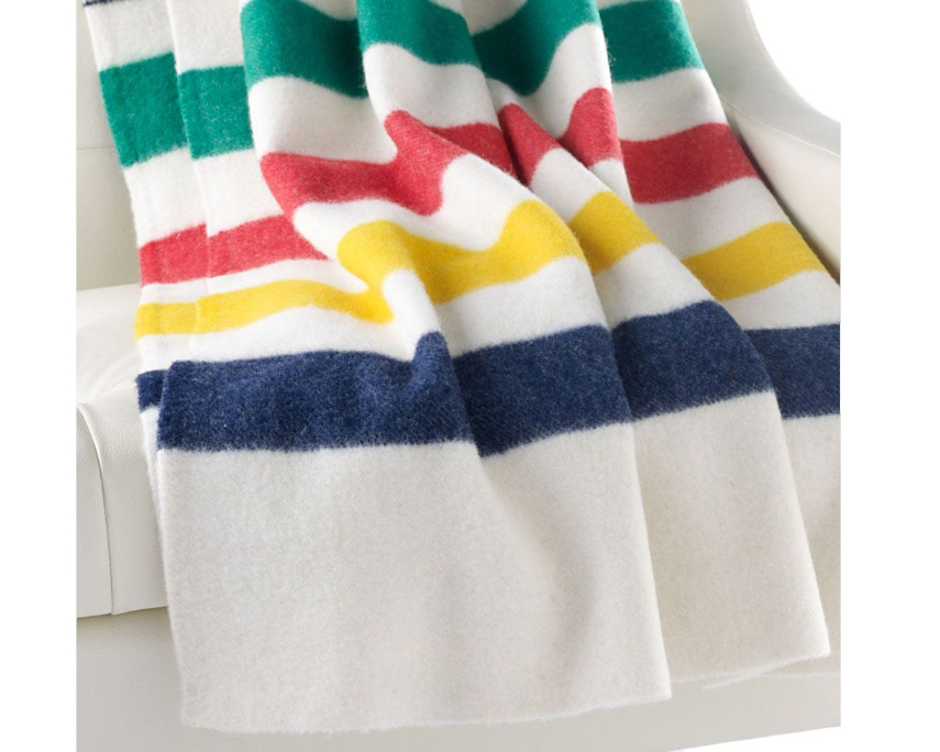 Shop Iconic Multi Stripe Point Blanket