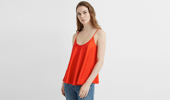 Club Monaco - woman in red top