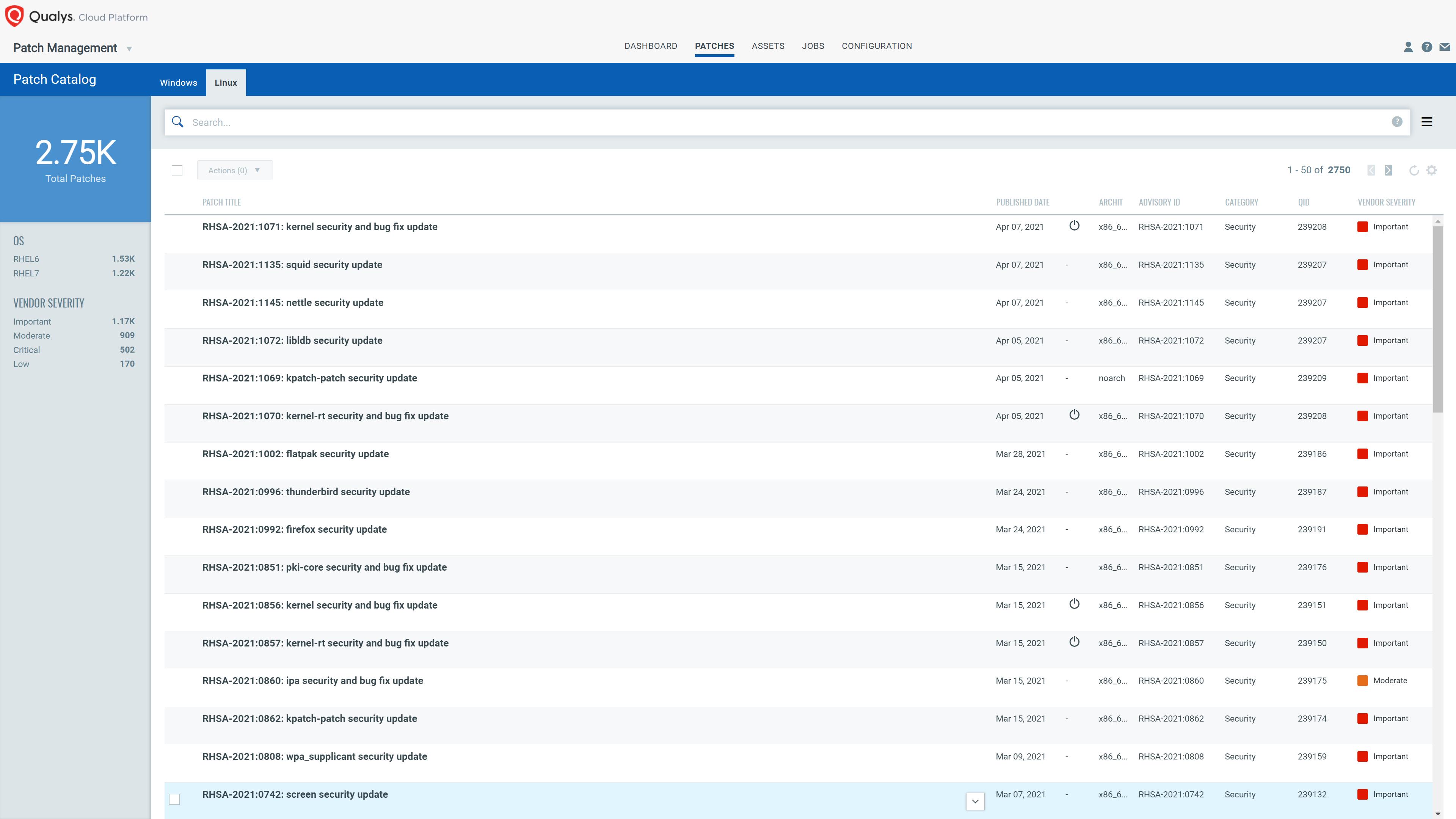 Patch Management for Linux