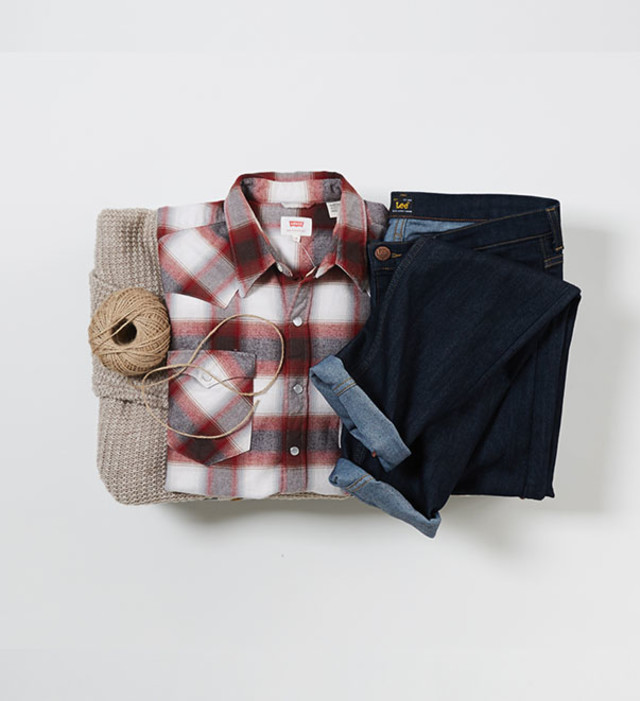 boyfriend denim grid