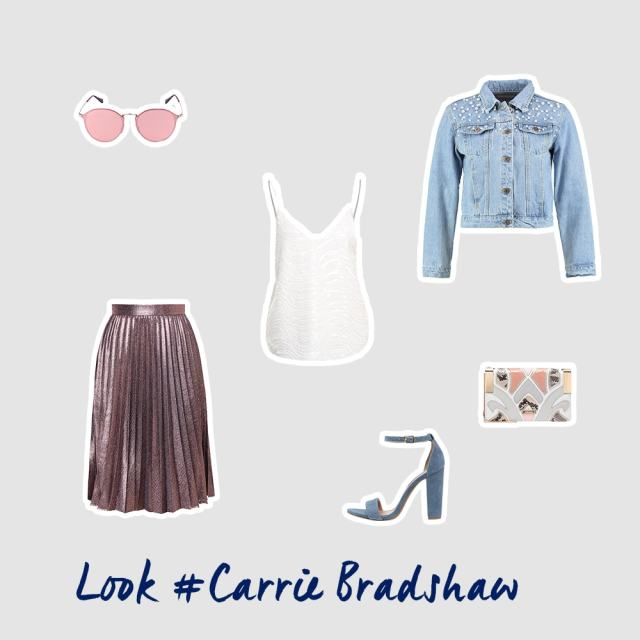 Carrie Bradshaw inspiriertes Outfit