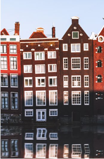 Houses beside canal, Amsterdam