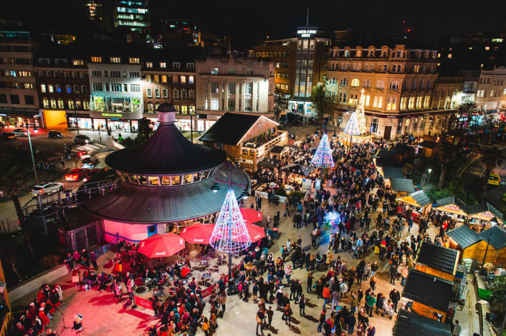 bournemouth christmas market 2019 view