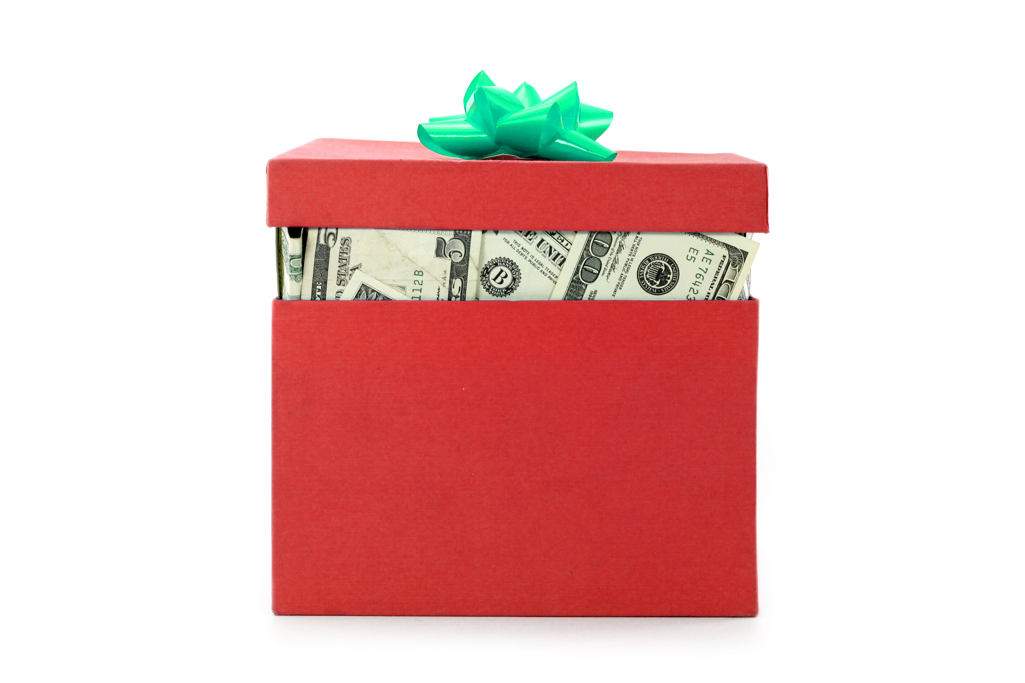 Holiday Money Gift Box