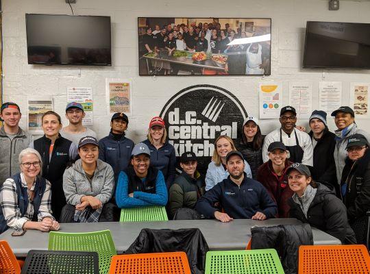 CIC staff - DC Central Kitchen volunteering 2020-2
