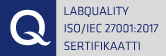 Qualification ISO/IEC 27001:2013 sertifikaatti
