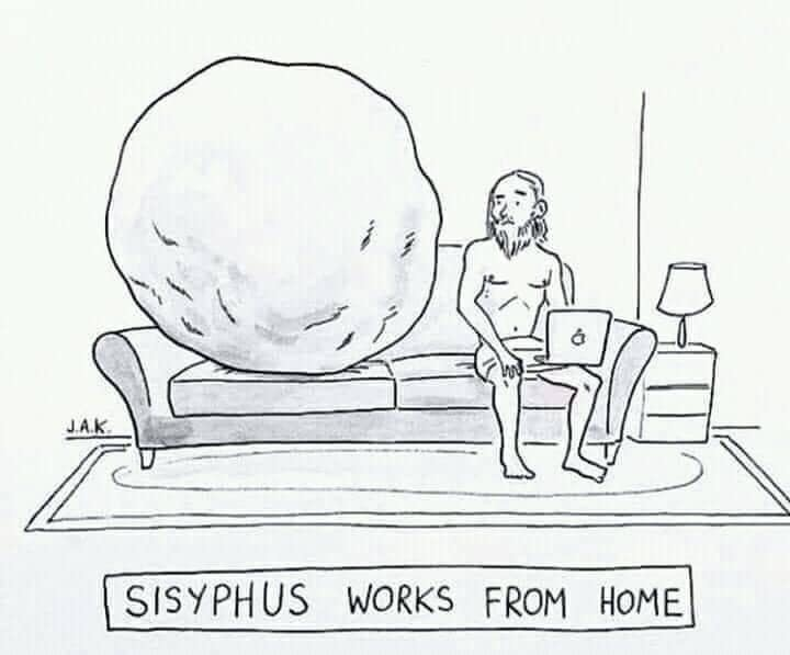 Sisyphus Working Remotely