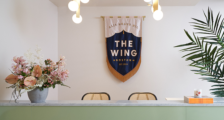 A photo of a pennant in The Wing Boston in Back Bay