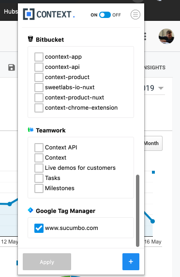 GTM Event Source in Context Extension