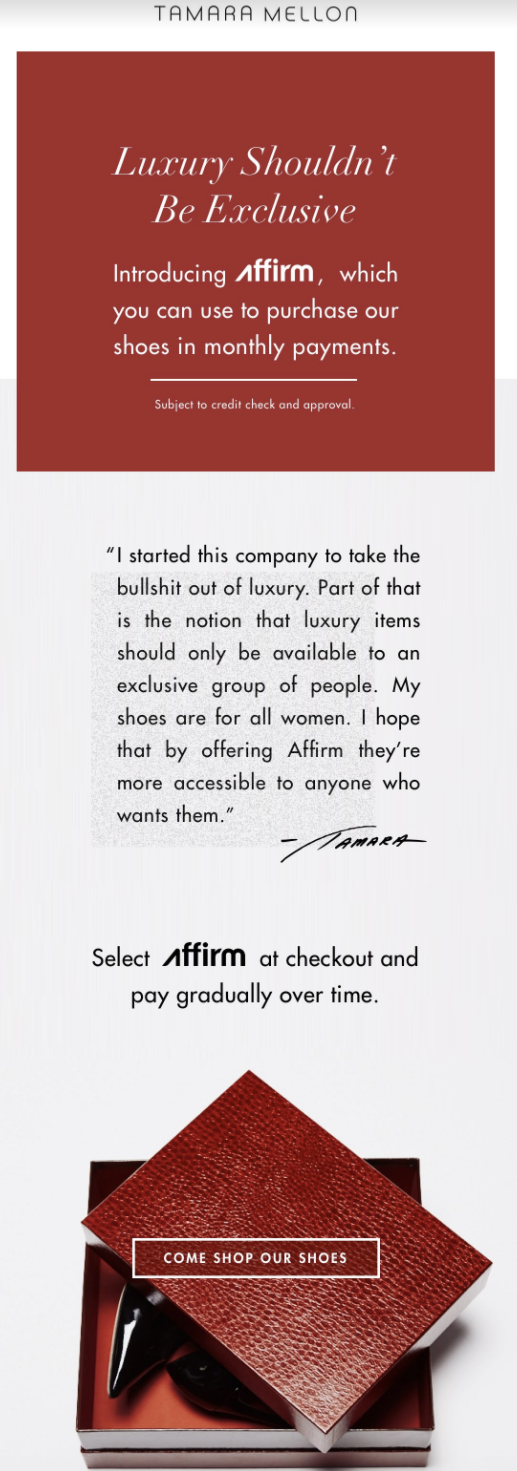 Tamara Mellon is making luxury more accessible with Affirm - Image 3