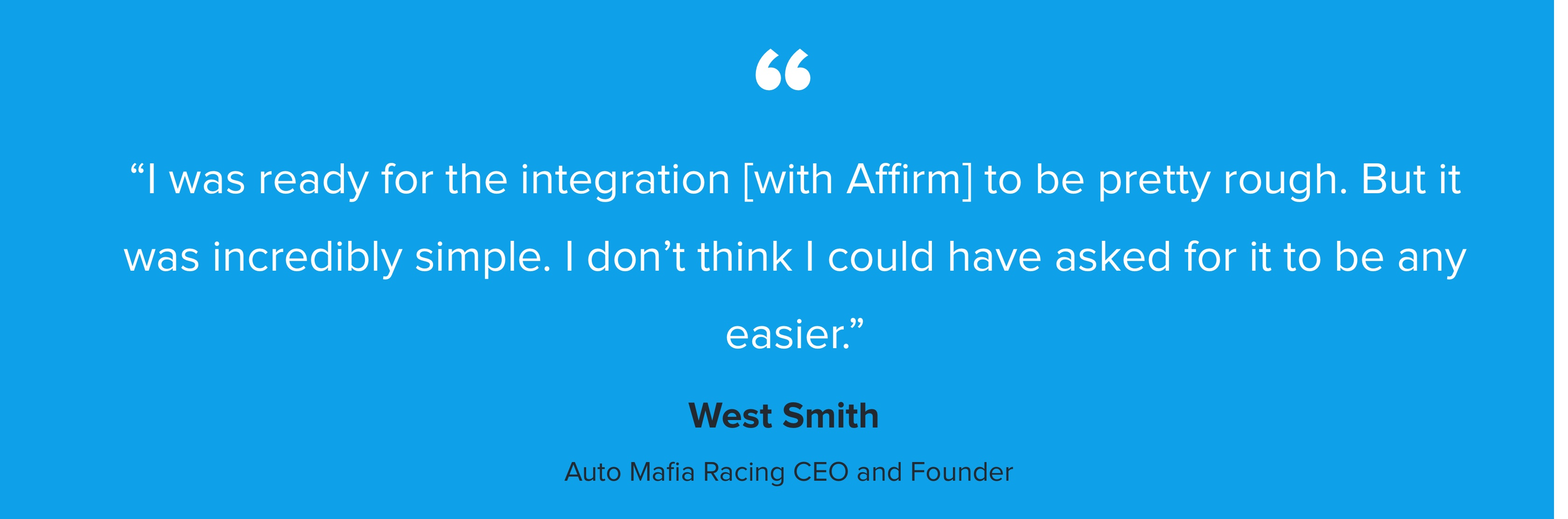 Affirm's self-service plug-in with Shopify took Auto Mafia Racing into the big leagues - Image 1