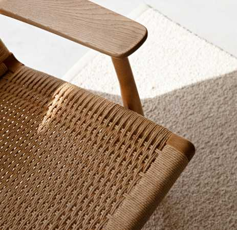 rattan chair closeup