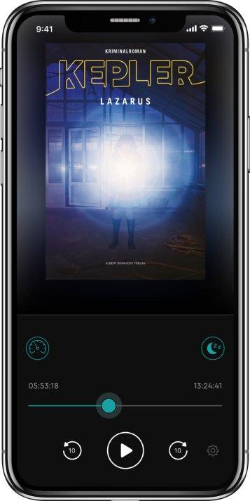Hur en lyssnar på ljudbok i BookBeat-appen