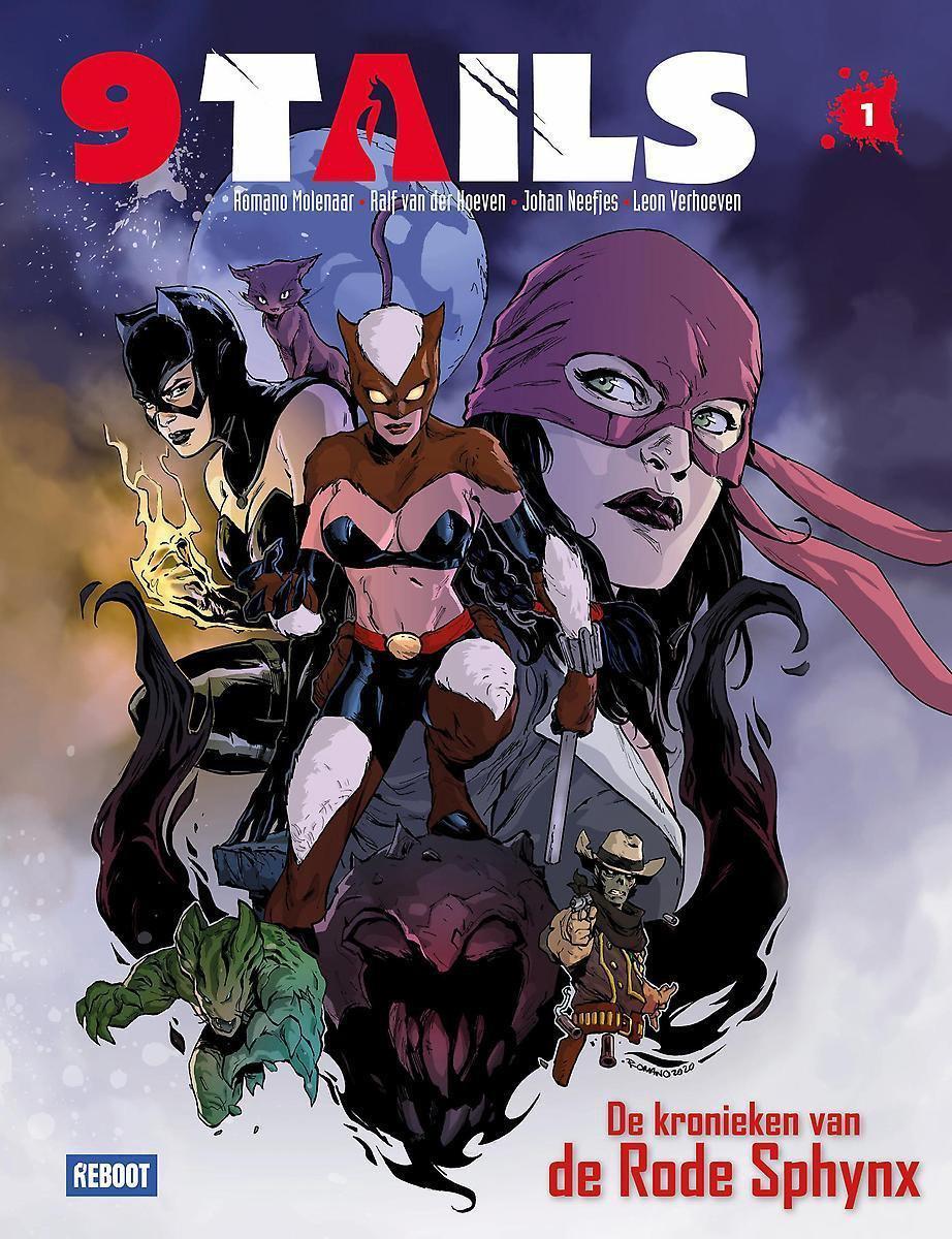 9 Tails deel 1 cover - De kronieken van de Rode Sphynx