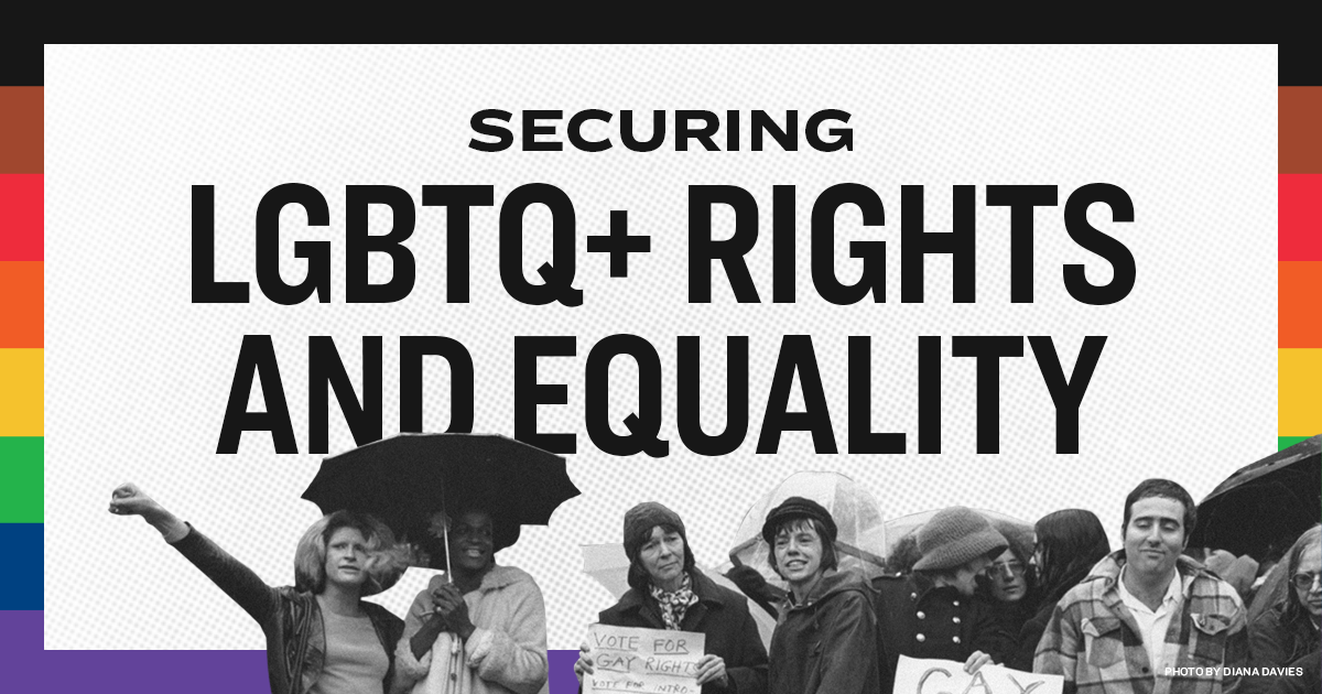 Securing LGBTQ+ Rights and Equality | Elizabeth Warren