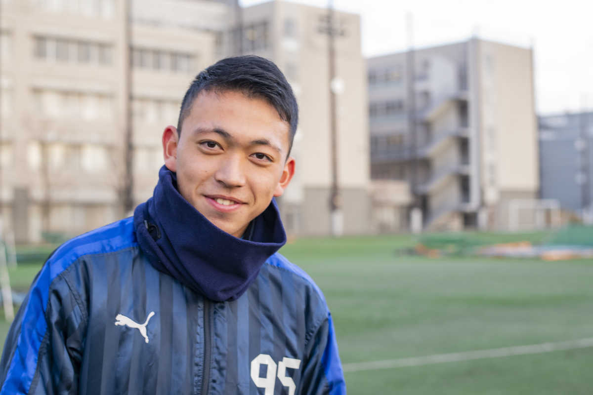 北越高校サッカー部キャプテンの加藤さん