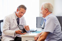 man with diabetes type 2 diabetes visiting his doctor endocrinologist