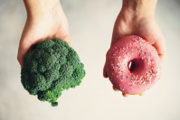 broccoli versus doughnut - sometimes our food choice is more than about food