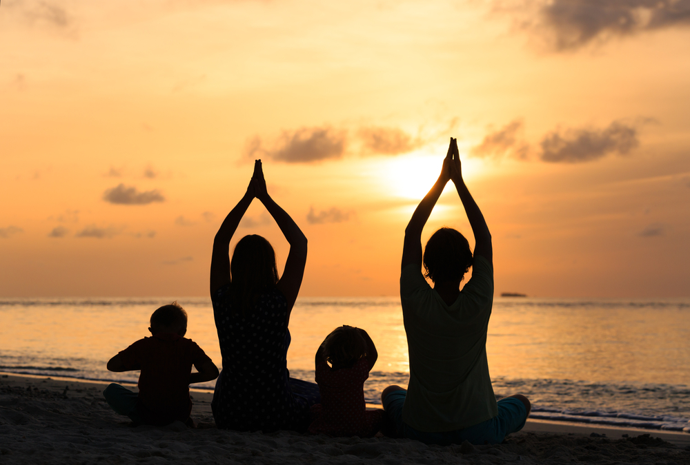 people with type 2 diabetes performing yoga and meditation