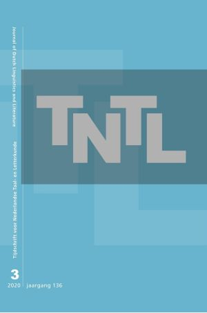Tijdschrift voor Nederlandse Taal- en Letterkunde / Journal of Dutch Linguistics and Literature