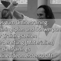 Trainingsplan für die November-Onlinetrainings