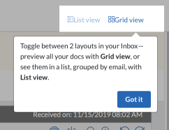 Inbox Grid vs list tooltip
