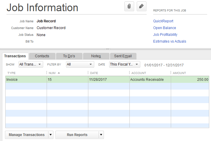 quickbooks for windows using customer jobs on invoices support