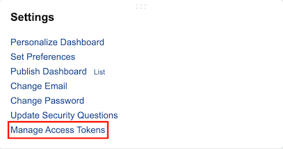 Manage Access Tokens