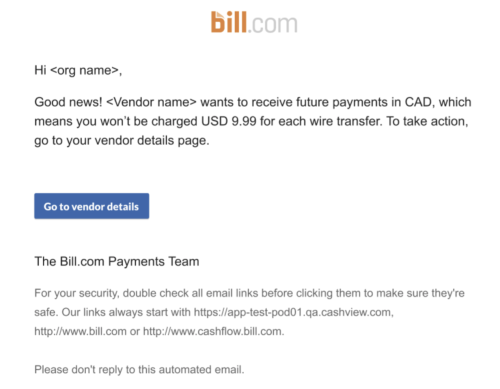 currency change AP email