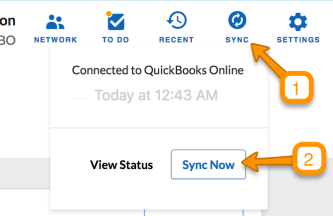 QuickBooks Online - Sync Setup - QuickBooks Online Sync Setup Guide - Sync now