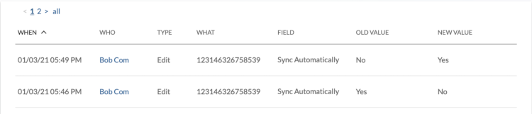 Sync Automatically setting in AT