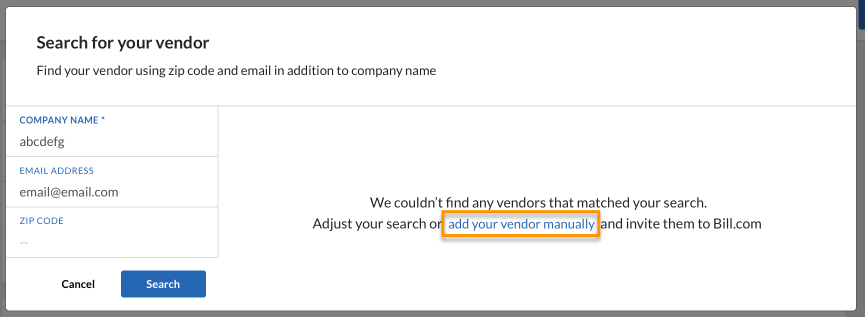 Vendor Advanced Search 4 NEO