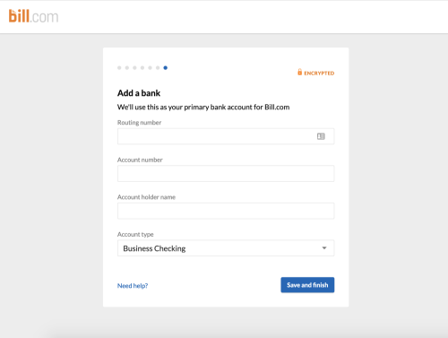Basic Signup 7 - Add Bank