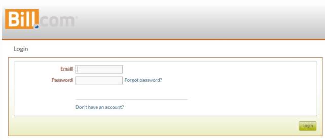 Branded Web Portal login page