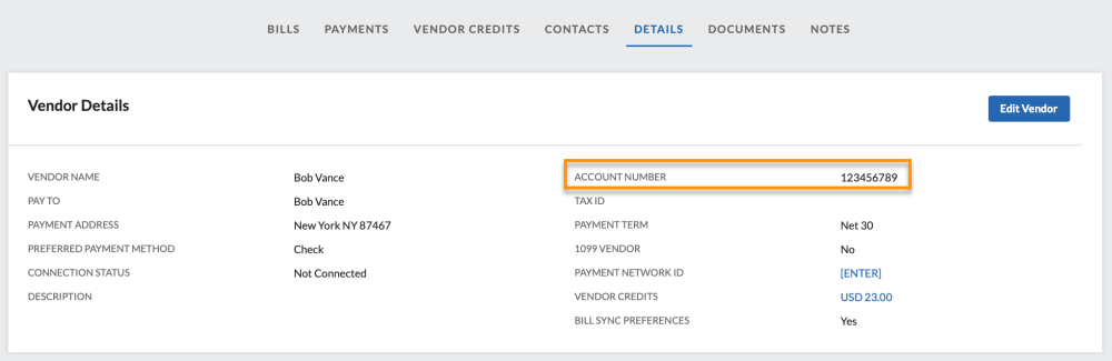 vendor acc num - Applying payments to the correct account - NEO