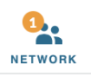 Network Icon with number