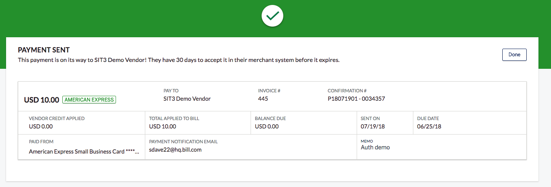 Paying bills via Vendor Pay – American Express Vendor Pay