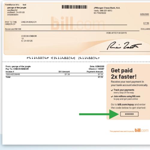 orange check with code