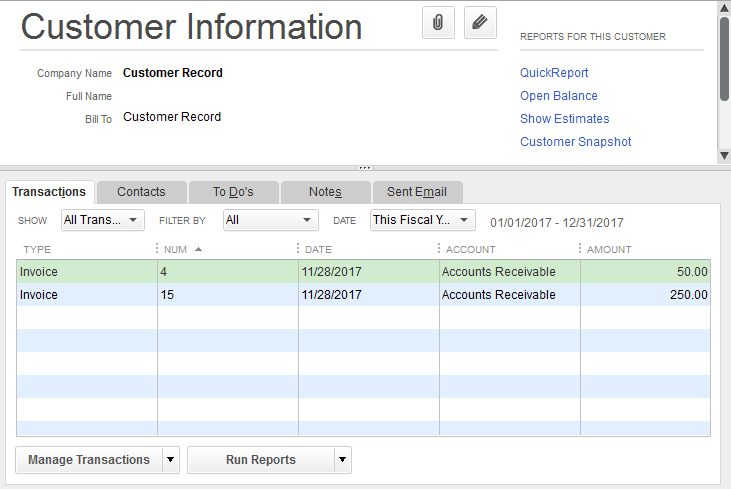 QuickBooks For Windows Using Customer Jobs On Invoices Support - Quickbooks invoice accounts receivable