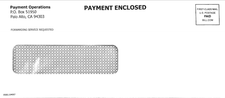 Payables - Paying Bills - Check payments - Check envelope