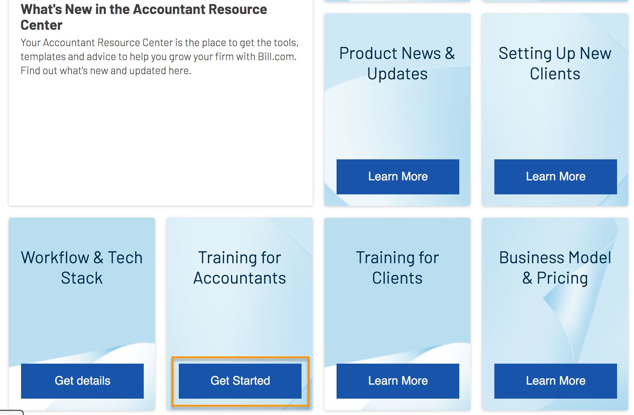 Accountant Resource Center - training link